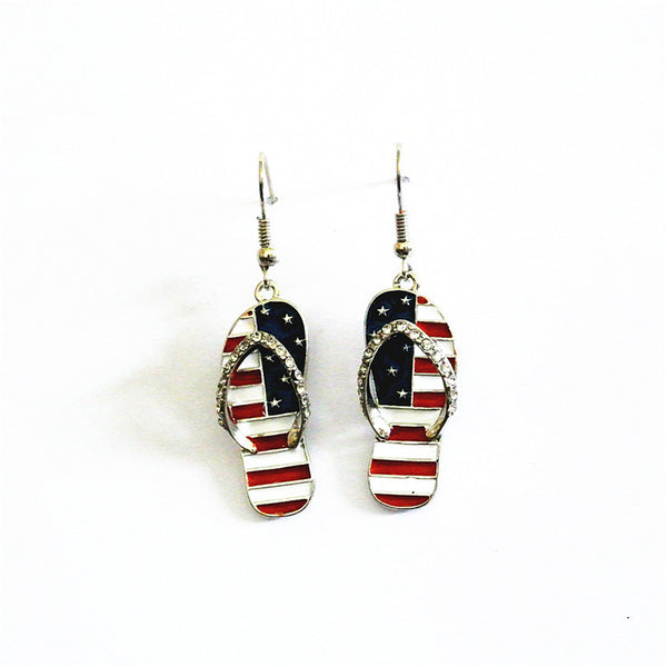 American Style Flip Flop Drop Earrings - Luna's Warehouse