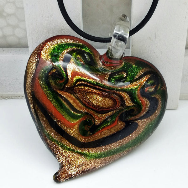Glass Heart Necklace - Luna's Warehouse