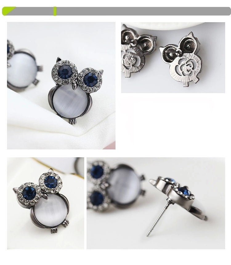 Owl Stud Earrings - Luna's Warehouse