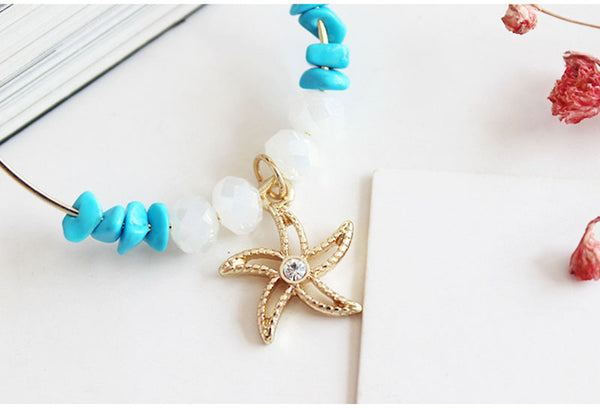 Starfish Hoop Earrings - Luna's Warehouse