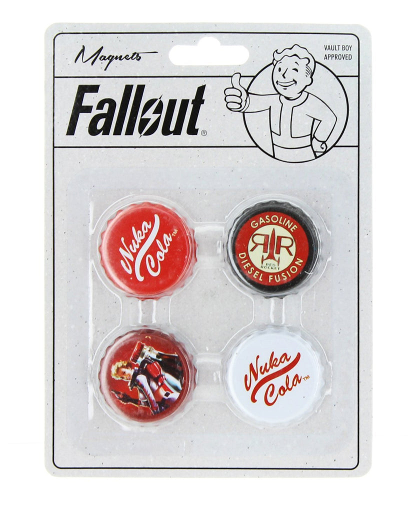 Fallout Bottlecap Magnets 4-Pack by Just Funky