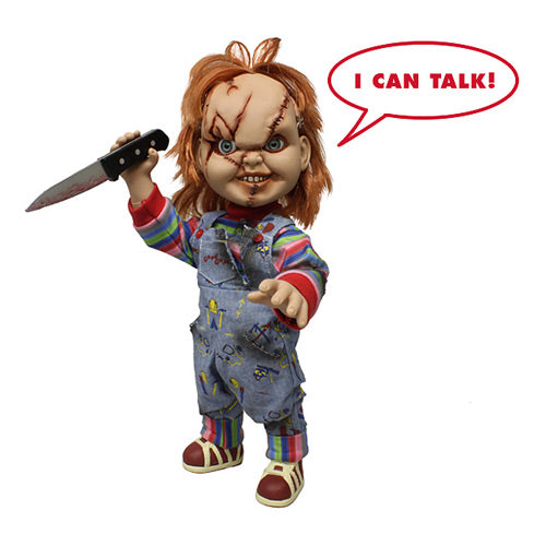 Child's Play Chucky Scarred Talking Mega-Scale 15-Inch Doll Action Figure by Mezco Toyz