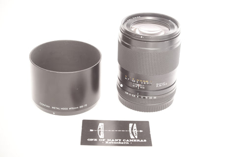 Contax 645 140mm f2.8 Sonnar with hood GB-73