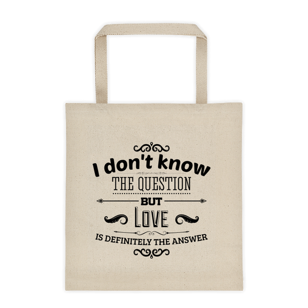 love+answer tote bag
