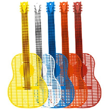 Music Party Supplies - Guitar Shaped Fly Swatters