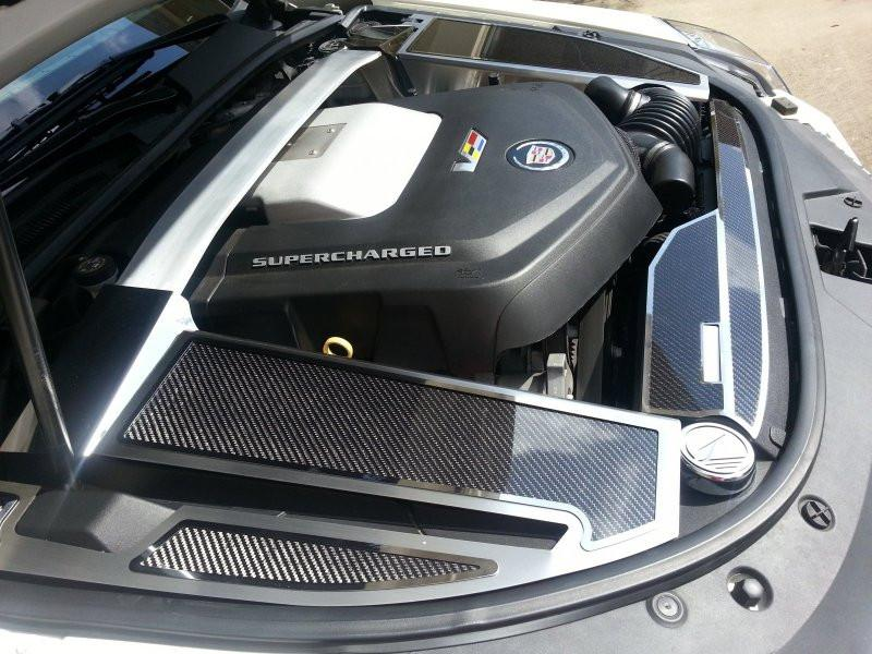2006-2015 Cadillac CTS-V Carbon Fiber Fender Covers 4Pc American Car Craft
