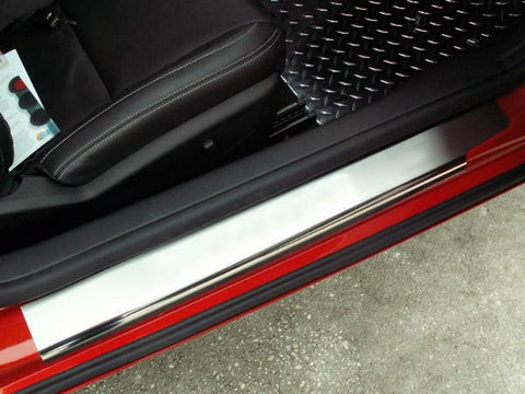 2010-2013 Camaro - Brushed/Polished 2Pc Outer Doorsills