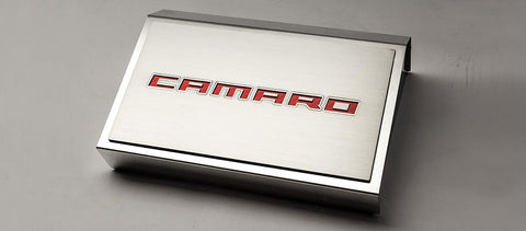 2016-2018 Camaro | Camaro Fuse Box Cover with Brushed Top Plate ''Camaro Style''