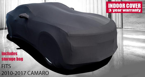 Chevrolet Camaro Car Cover - Onyx Premium Stretch Fit Indoor Car Cover