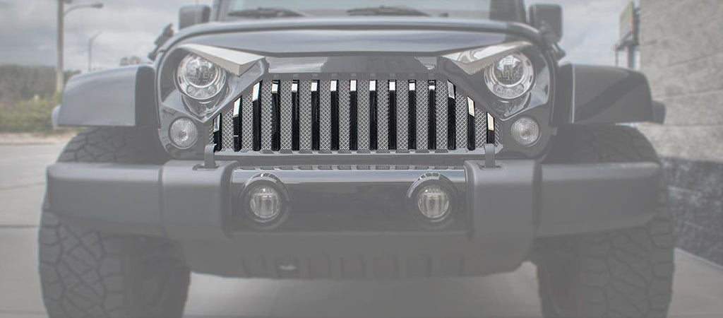 Front Lower Grille Bars (07-18 Jeep Wrangler JK with Gladiator Grille) American Car Craft
