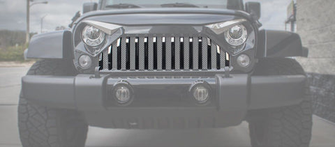 Front Lower Grille Bars (07-18 Jeep Wrangler JK with Gladiator Grille)