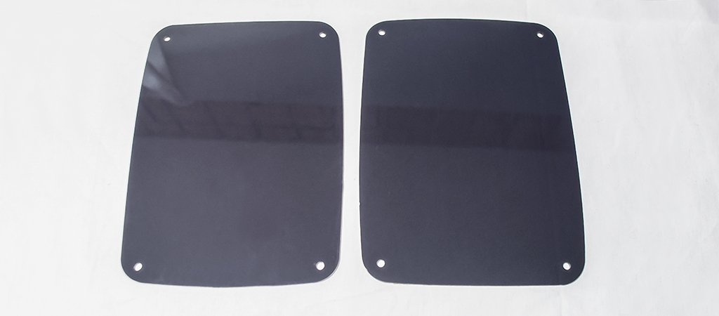 Jeep Wrangler Blackout Plexi Tail Light Covers (07-18 JK and JKU) American Car Craft