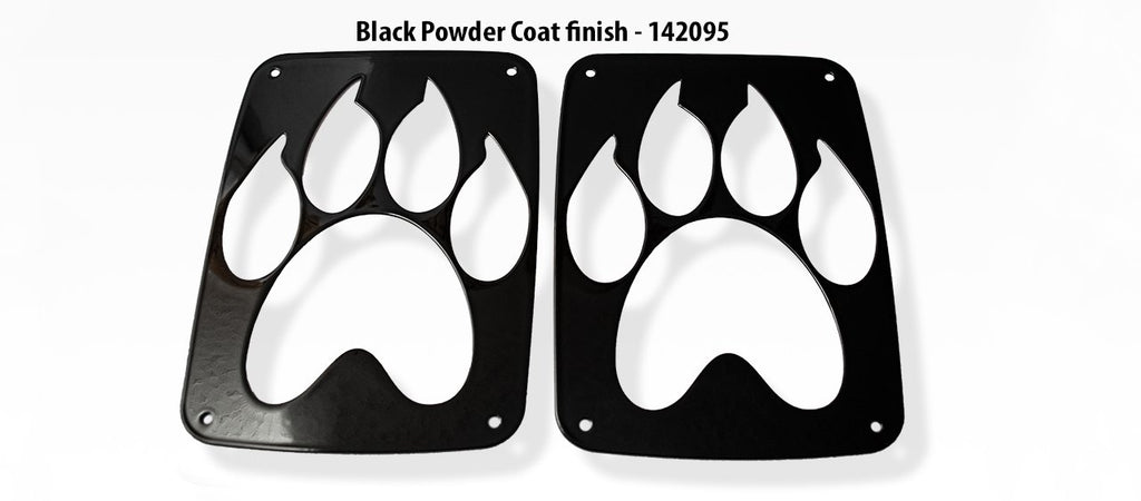 Jeep Wrangler Paw Print Tail Light Covers (07-18 JK and JKU) American Car Craft