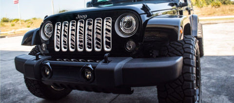 Safari Style Grille Stainless Steel (07-18 Jeep Wrangler JK)