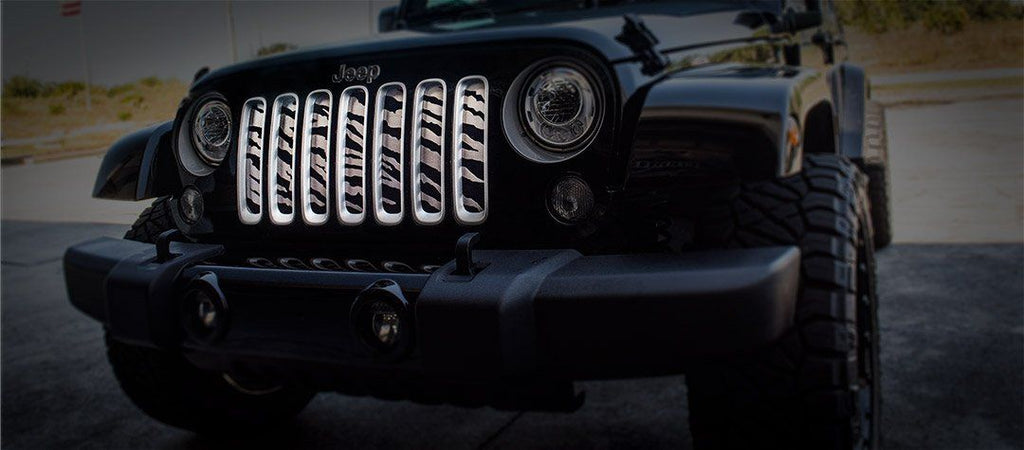 Safari Style Grille Stainless Steel (07-18 Jeep Wrangler JK) American Car Craft