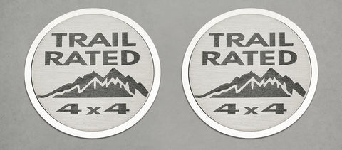 Trail Rated Badges (07-18 Jeep Wrangler JK) | 2PC