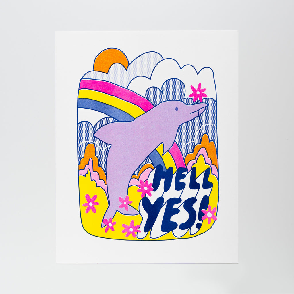 Hell Yes! Risograph art print