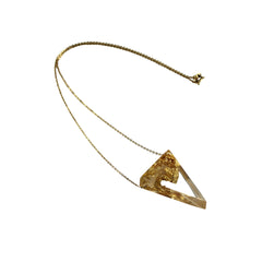 Sustainable Plant Based Eco-Resin Triangle Necklace