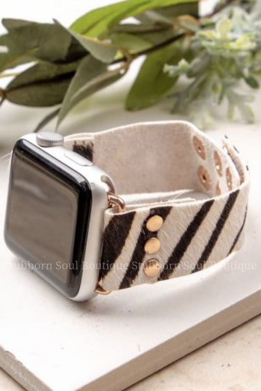 Wildest Dreams Smart Watch Band in Zebra Stubborn Soul Boutique Apple Watch Band
