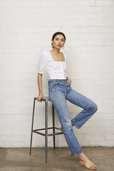Linen Kimmie Top - Chalk