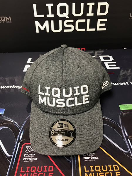 LIQUID MUSCLE New Era 9FORTY Baseball Cap - Grey Shadow Tech