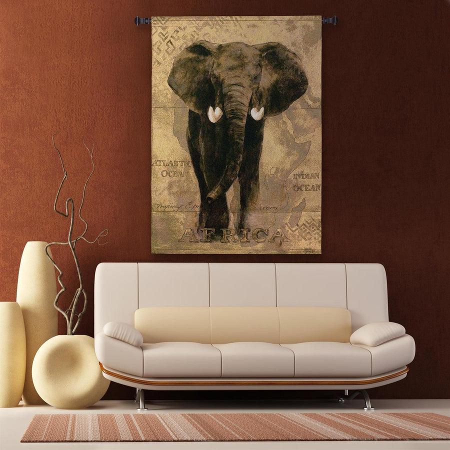 African Voyage Wall Elephant Tapestry Wall Hanging