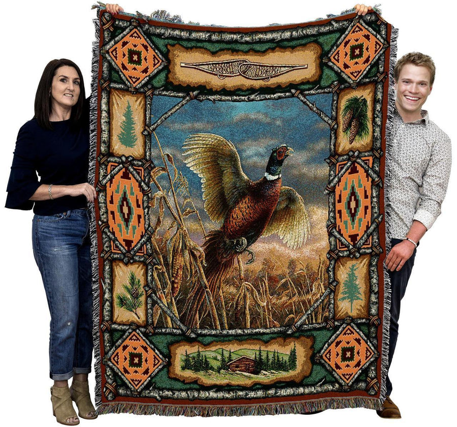 Large Classic Pheasant Throw Blanket