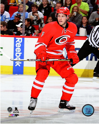 Elias Lindholm 8x10 Carolina Hurricanes Red Uniform