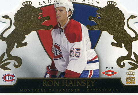 2002-03 Crown Royale - # 123 Ron Hainsey #/2299