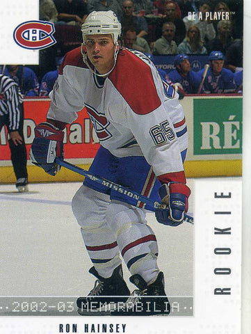 2002-03 Be A Player Memorabilia - # 292 Ron Hainsey
