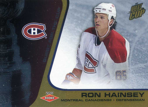 2002-03 Quest for the Cup - Gold # 126 Ron Hainsey #/325