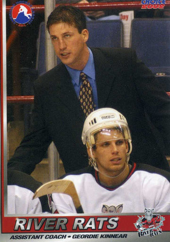 2001-02 Albany River Rats - Choice Marketing [AHL] (Assistant Coach) # 27 Geordie Kinnear