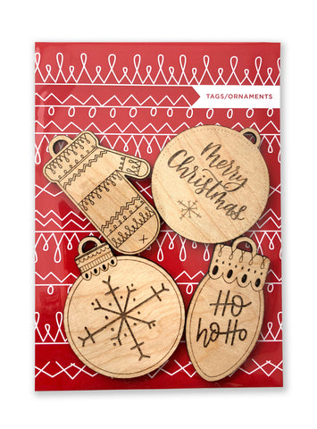 Wooden Christmas TAGS/ORNAMENTS