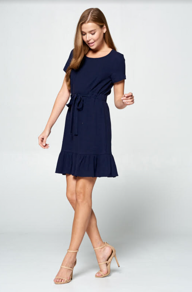 Surrey Dress--Navy