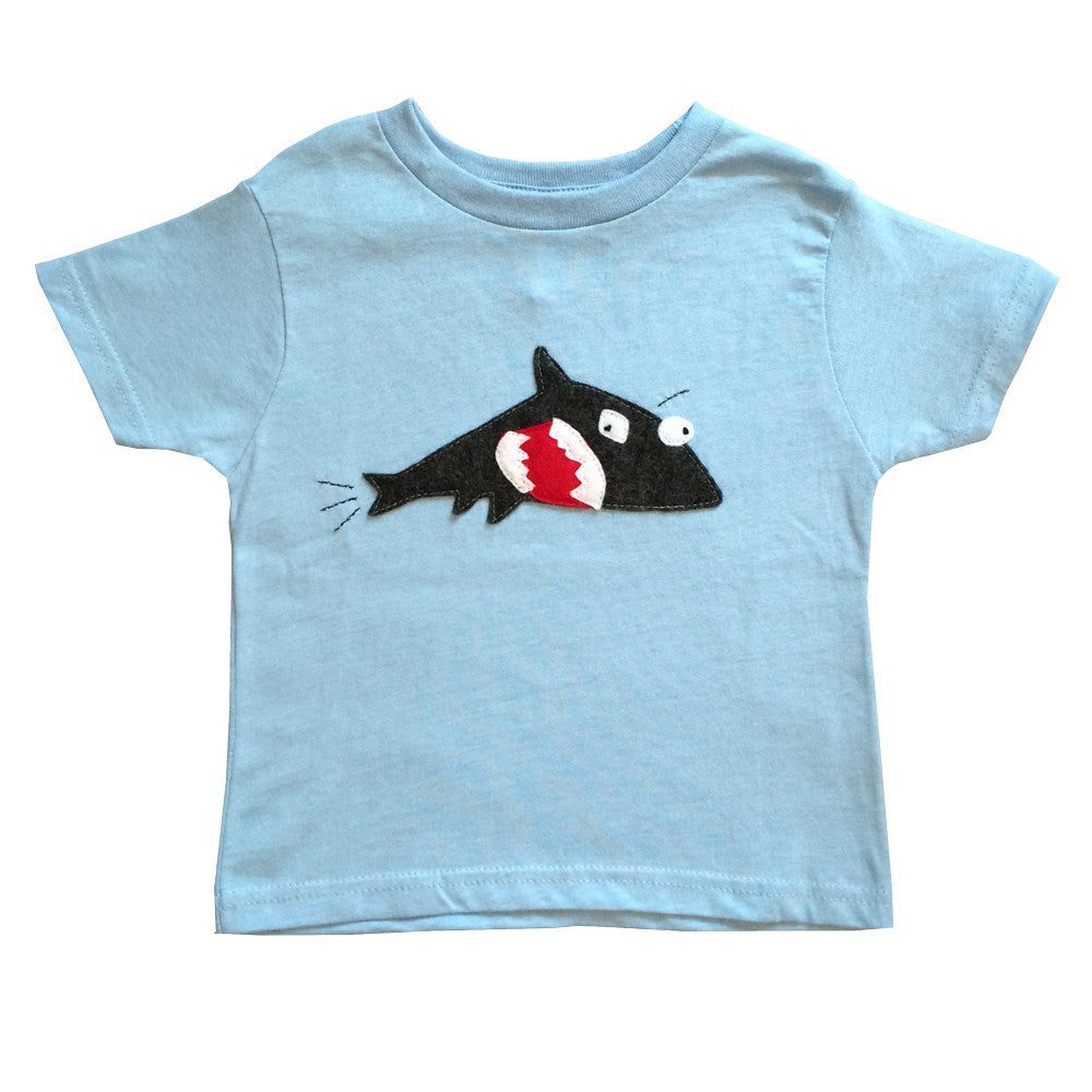 Kids T-shirt - Shark + Fish - mi cielo x Matthew Langille