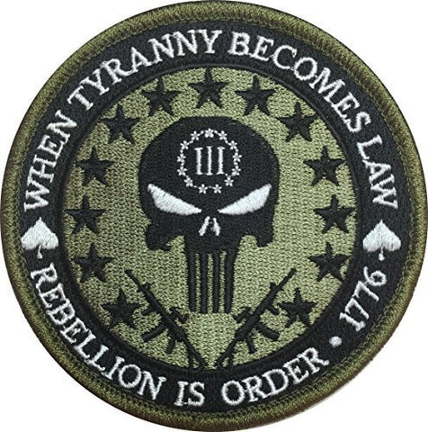 Three Percent Punisher Liberty Embroidered Patch