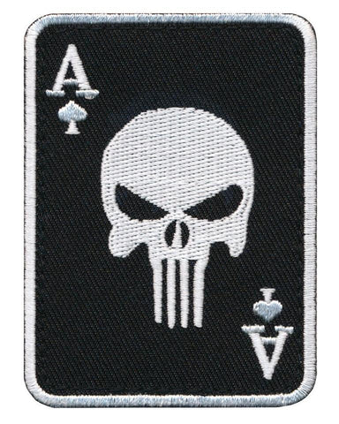 "Ace of Spade ""Ace of Death Card"" Embroidered Patch"