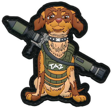 "Tactical ""TAZ"" PVC Patch & Matching Decal"