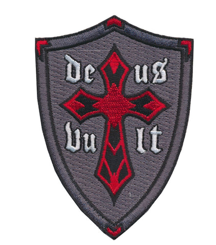 "Tactical Deus Vult Classical Latin for ""God Wills It"" Embroidered Patch"