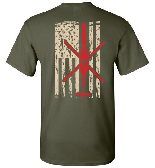 T-shirt - 1-214th AVN Dustoff Black Hawk Shirt
