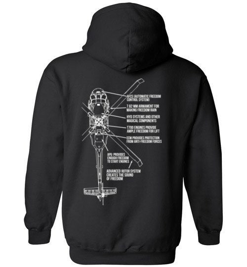 T-shirt - Awesome Dustoff Black Hawk Freedom Hoodie!