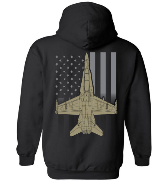T-shirt - F/A-18 Subdued Flag Hoodie!