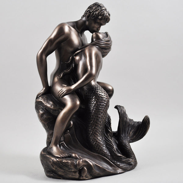 Seduction Mermaid Cold Cast Bronze Sculpture - Prezents.com