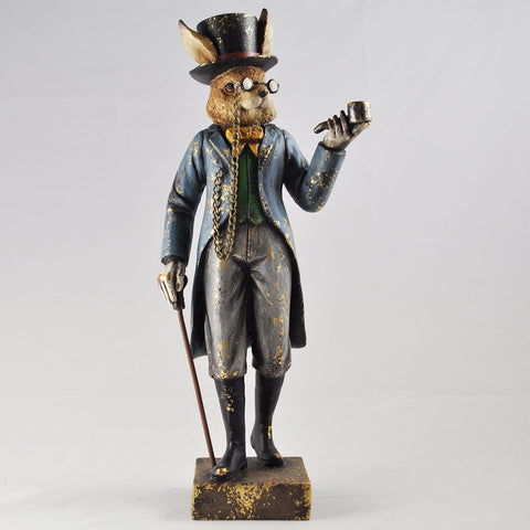 Dapper Rabbit with a Pipe and Cane - Prezents.com