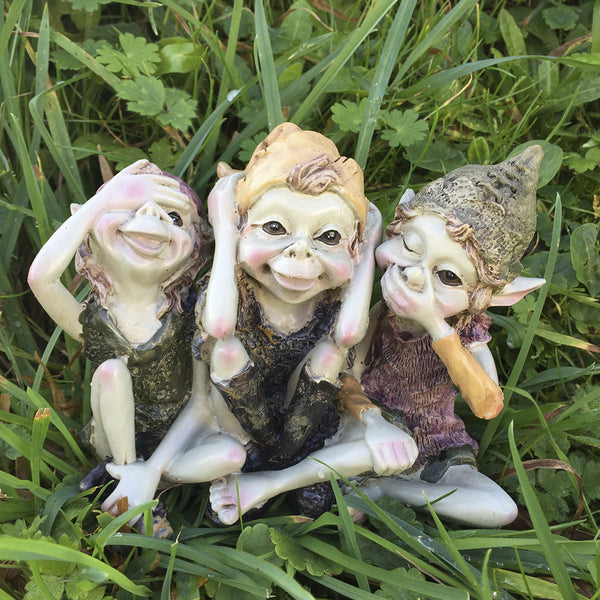 See, Hear, Speak No Evil Pixie Sculpture by Tony Fisher - Prezents  - 2