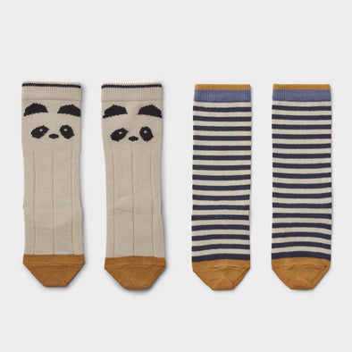 Kniesocken Panda Stripe 2-er Pack