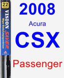 Passenger Wiper Blade for 2008 Acura CSX - Vision Saver