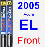 Front Wiper Blade Pack for 2005 Acura EL - Vision Saver