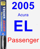Passenger Wiper Blade for 2005 Acura EL - Vision Saver