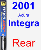 Rear Wiper Blade for 2001 Acura Integra - Vision Saver